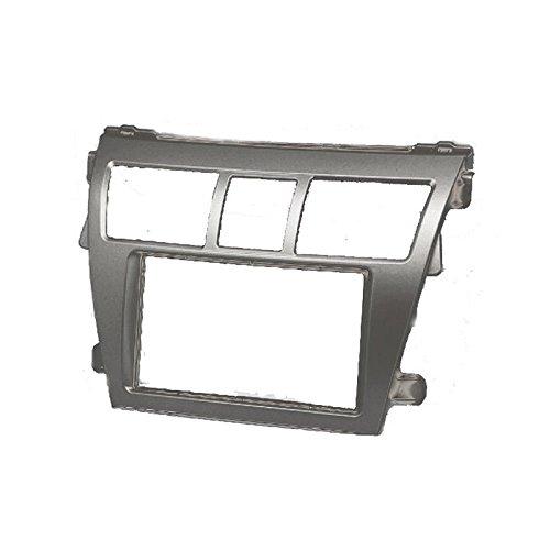 CARAV 11-402 2Din Car Dash Installation Kit Radio Stereo Face Facia Fascia Panel Frame DVD Dash Stereo Install Kit for Toyota Vios Belta Yaris Sedan with 17398mm 178100mm 178102m
