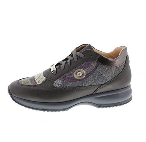 Gattinoni PIGAT 6085 WHBP46 Leather planetario Grigio Grey Taglia 38