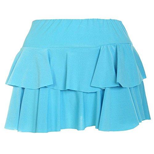 Janisramone Nouveau Femme Mini Jupe ''Rara'' Jupe Courte Simple et lgante Turquoise