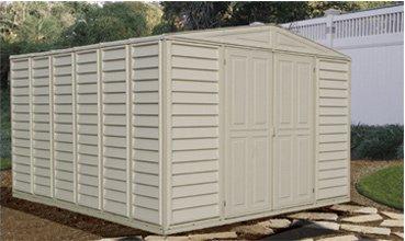 Duramax 10x15 Vinyl Storage Shed Garage With Foundation Kit Amazon