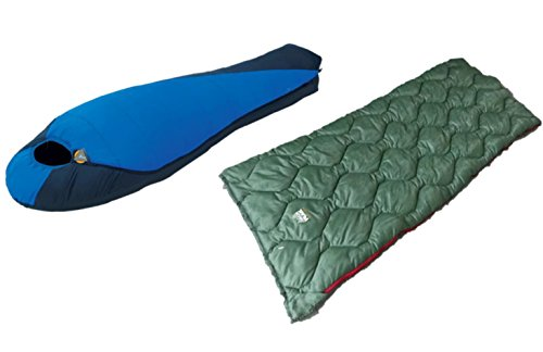 High Peak USA Alpinizmo Ranger 20F + Lite Weight Extreme Pak 0F Sleeping Bag Combo Set, Blue/Green, One Size by High Peak USA Alpinizmo