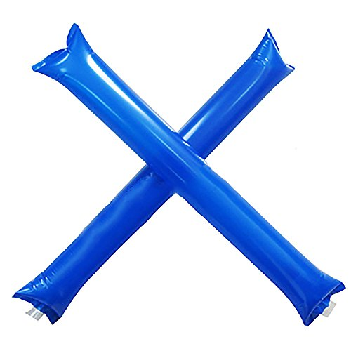 MMRM Inflatable Thunder Stick Bang Noise Maker Football Soccer Basketball Clapper Cheerleader Outfit - Blue -