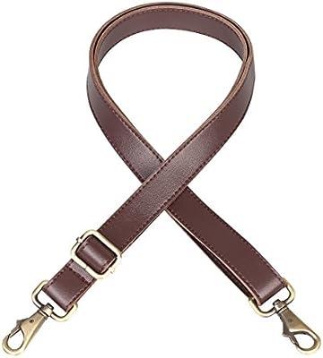 JAKAGO 140cm Universal Replacement PU Leather Shoulder Strap Adjustable Bag  Strap with Metal Swivel Hooks for Leather Crossbody Bag Briefcase Messenger  Bag ... 2f334ff33799d
