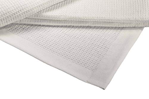 Buy Discount Crover Collection All Season Thermal Waffle Cotton King Blanket 108x90 Glacier Grey w...