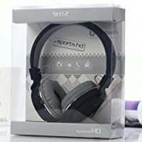 sports-hd SH-12 Wireless Bluetooth Headphone with FM/SD Card Slot with Music and Calling Control (Black)