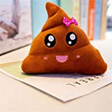 Cute Pillow Poop Face - Cartoon Brown Stuffed