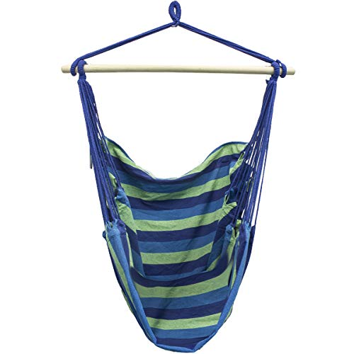 Sorbus Brazilian Hammock Chair Swing Seat for Any Indoor or Outdoor Spaces, Blue For Sale