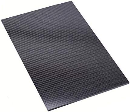 SOFIALXC 3K Kohlefaser-Platte, Composites (Mattes Twill-Finish)-100mmx200mmx0.5mm
