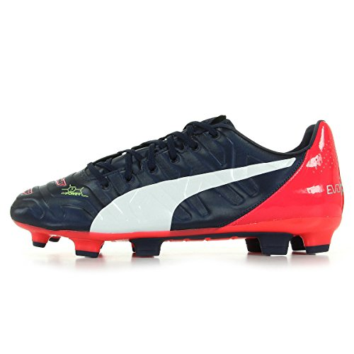 Puma evoPOWER 3.2 FG - zapatillas de fútbol de material sintético hombre azul oscuro / blanco