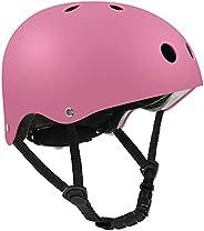 Skateboard Bike Helmet for Kids Youth Adult, Lightweight Adjustable CPSC Certified for Cycling Skateboarding S