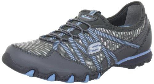 Skechers BikersEnchanted 22232 GYSL - Zapatillas fashion de cuero para mujer Gris