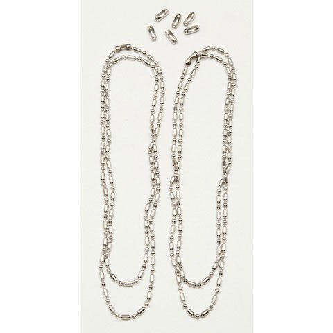 Better Crafts BAR BALL CHAIN 24IN. 2.4MM SILVER 2PC (3 pack) (01999-40820) by Better crafts