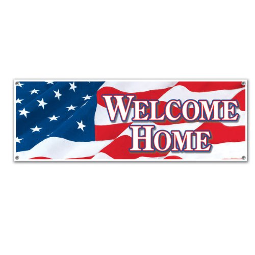 Welcome Home Sign Banner Party Accessory (1 count) (1/Pkg) -