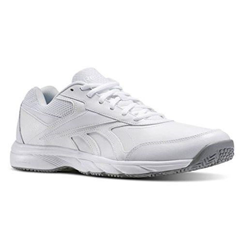 Reebok Men's Work N Cushion 2.0 Walking Shoe, White/Flat Grey, 9.5 M (White Shoes Trainers)
