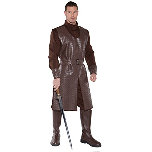 Underwraps Men's Crusader, Brown, One Size (Noble Warrior Adult Costume)