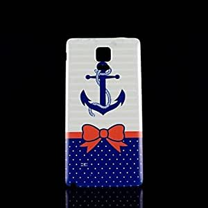 ZXC Anchors Pattern Hard Case for Samsung Galaxy Note 4