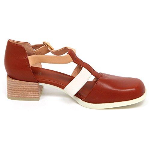 E5600 Without Decollete Brown Donna Shoe CAMPER Marron Leather Scarpe Box Woman d1w5SdFq