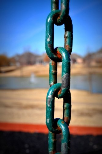 Rusted Chain Journal:150 page ruled journal/diary: Log your dreams, musings and (Rusted Chain)