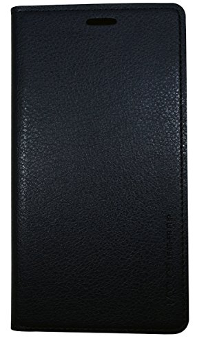 Note 4 Edge Case, Samsung Galaxy Note4 Edge Soft Leather Case, Mobile Slim Wallet Flip Cover - Credit Card ID Holders (Black)