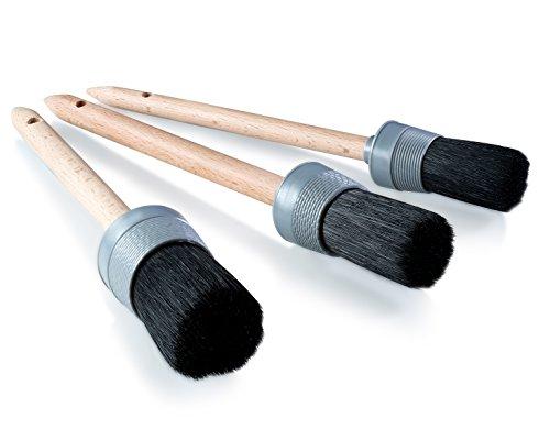 1 car detailing brush set with microfiber cleaning cloth 4 piece set paint safe detail set. Black Bedroom Furniture Sets. Home Design Ideas