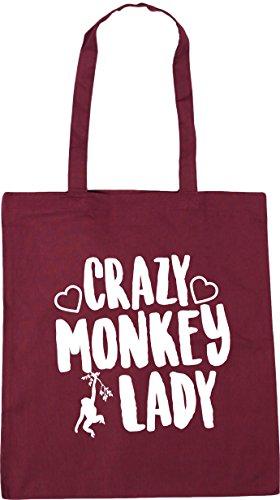 Beach Crazy HippoWarehouse Burgundy x38cm 10 Tote 42cm Gym litres Bag lady Shopping monkey w6dqxdUYp
