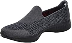 Dual layer heathered fabric slip on. Goga pillars on outsole evolved into a more streamlined design