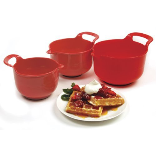 Norpro Mixing Bowls Red Set