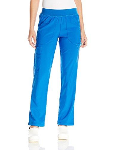 Carhartt Women's Cross-Flex Straight Leg Knit Waist Cargo Scrub Pant, Royal, Medium ()