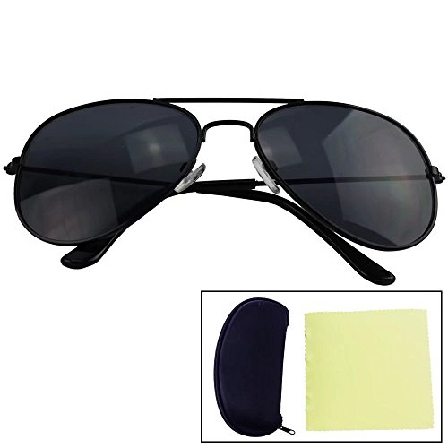 Sealive Fashion Kids Sunglasses Colorful Premiums Eyeglasses Eyewear for 2-9 Years Old Boys Girls (Black Frame Black Film), with Sunglasses Box Holder and Microfiber Cleaning Cloth (Sunoptic Frames)