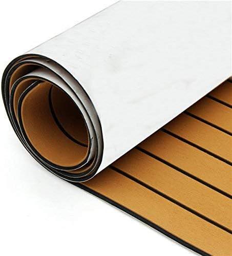 Inflatelines L/áminas de Pisos de Teca de imitaci/ón de EVA para Yates de Barcos Plataforma autoadhesiva para Pisos de Barcos 240/×115/×6 cm alfombras Marinas Antideslizantes