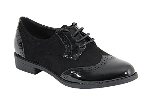 Chaussure Plate Noir Shoes Style Derby By Femme xv8Tq1awZn