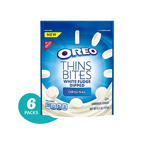 - Oreo Thin Bites White Fudge Dipped Original Cookies, 6 Count