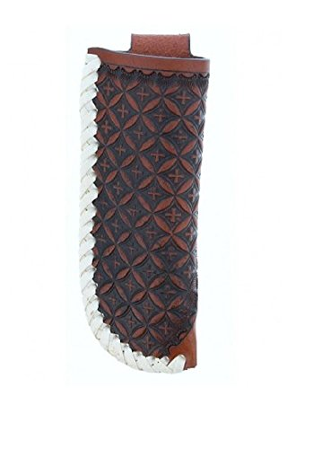 Twisted X Brown Crosses with Rawhide Trim Knife Sheath 4
