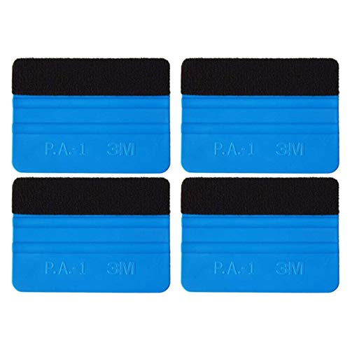4 Pack Felt Squeegee Wrapping Tool, RESNSTAR 4'' Inch Premium Scratch-Proof Decal Vinyl Wrap Squeegee Handy Tools for Vinyl Installation, Scrap Booking, Wall Decals