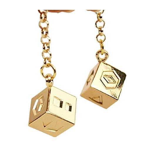 Han Solo Dice Lucky Charms Jewelry for Hansolo Cosplay Costumes Replica Accessories (Large Chain -