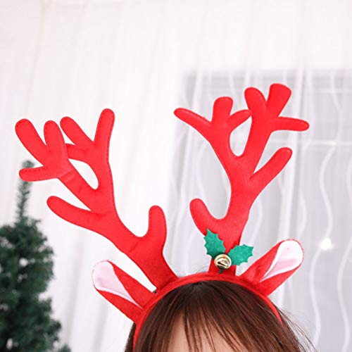 Amazon.com: SUPVOX 2pcs Antlers Hair Bands Christmas Bells Headband Fancy Xmas Decoration Dress Costumes Accessories (Red and Brown): Toys & Games