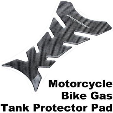 Protector acolchado y adhesivo para el depósito de la motocicleta Everpert, con diseño de fibra de carbono, color negro: Amazon.es: Coche y moto