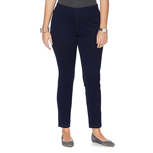 MarlaWynne Stretch Side Zip Tapered Leg Knit Denim Jean Indigo 10 New 517-811 (Zip Jeans)