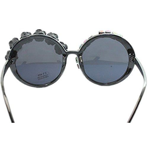 a la playa Cartas conducción UV para vacaciones sol gafas mano de de de protección Lady negro Rose de Peggy hechas gafas de decoración verano sol Gu de de XwxAB