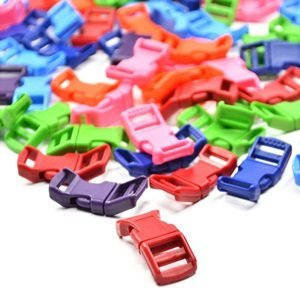70 PCS 1//2 Red//Pink//Light Blue//Green//Royal Blue//Purple//Orange Contoured Side Release Plastic Buckles