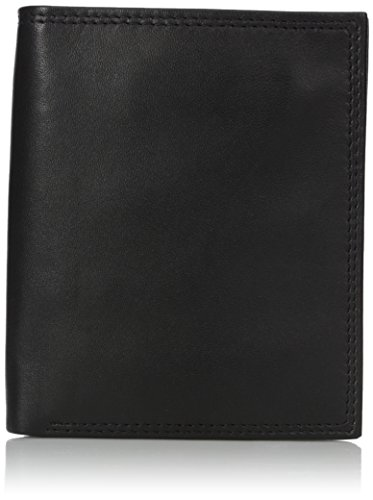 Buxton Men's Emblem Credit Card Folio, Black, One Size (By Buxton Wallets)