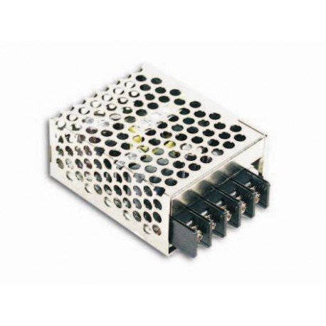 Mean Well RS-15-24 Enclosed Switching AC-to-DC Power Supply, Single Output, 24V, 0-0.625A, 15W, 1.1