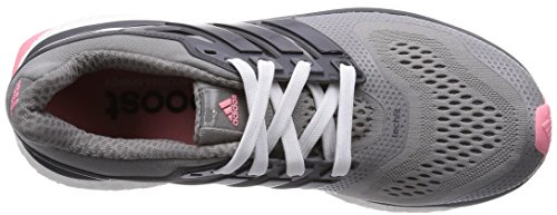 adidas Performance Energy Boost ESM Damen Laufschuhe Grau (Ch Solid Grey/Core Black/Super Pop F15)
