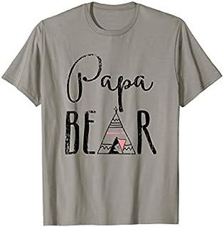 ⭐️⭐️⭐️ Papa Mama Bear  - Papa Bear Camping For Father Need Funny Tee Shirt Need Funny Short/Long Sleeve Shirt/Hoodie