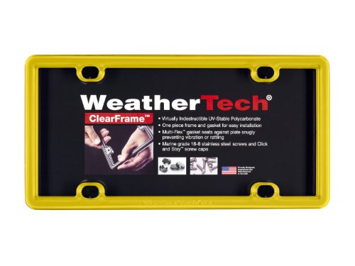 WeatherTech (8ALPCF14 ClearFrame License Plate Frame, Yellow