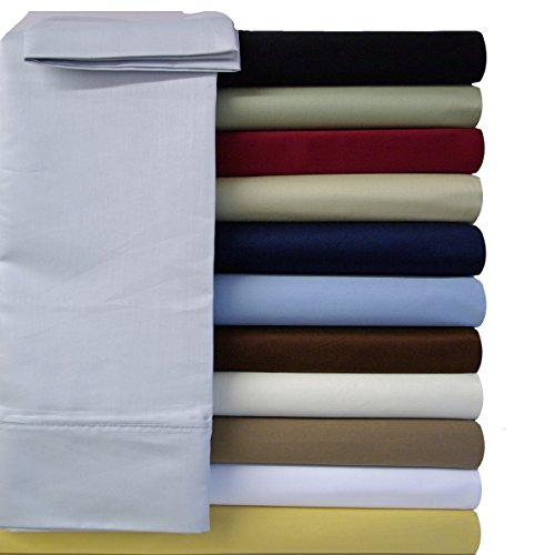 Super Deep Pocket Solid Ivory King Sheet Set 100% Cotton 600
