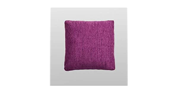 10XDIEZ Funda de coj/ín Chenilla Violeta Medidas cojin 30x50cm