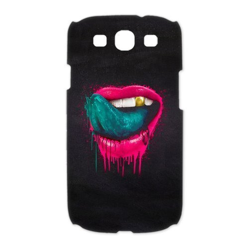 DIY Case Cute Sexy Red Lip With Blood Sexy Kisses Hard Plastic Samsung Galaxy S3 I9300 Case Back Protecter Cover Case Perfect as Christmas gift(4)
