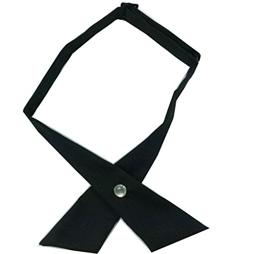 CHJ&Q Formal Solid Men Adjustable crossover bow tie 7 colors (Crossover Tie)