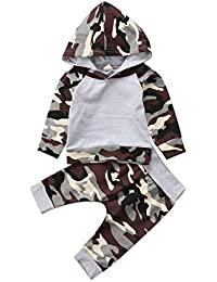 Toddler Infant Baby Boys Deer Long Sleeve Hoodie Tops...
